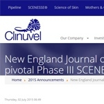 New England Journal of Medicine publishes pivotal Phase III SCENESSE® studies